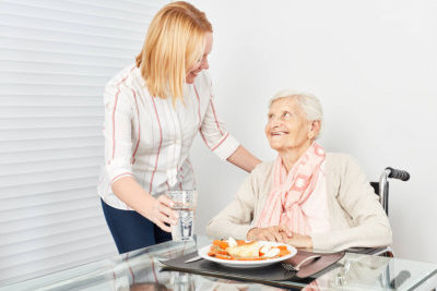 two people having a meals