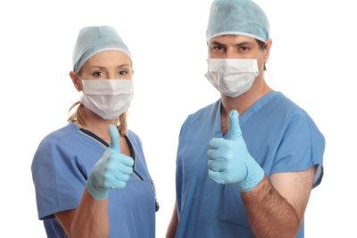 two nurses having a thumbs up